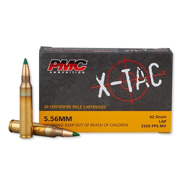 PMC X-TAC PMC556K M855 SS109 62 Grain Green Tip Steel Core LAP FMJ 20 RDS